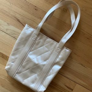 NWT Gold Quilted Tote Bag
